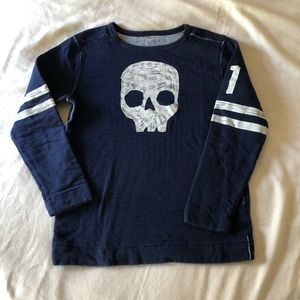 Gymboree Boys Heavy Navy Pullover SZ 10-12 EUC